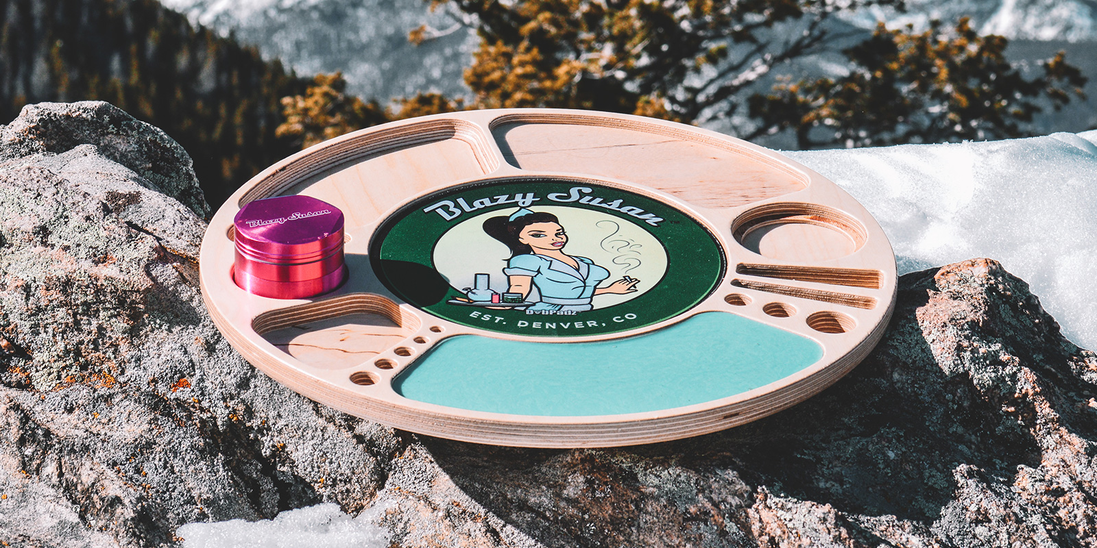 Blazy Susan Spinning Rolling Tray