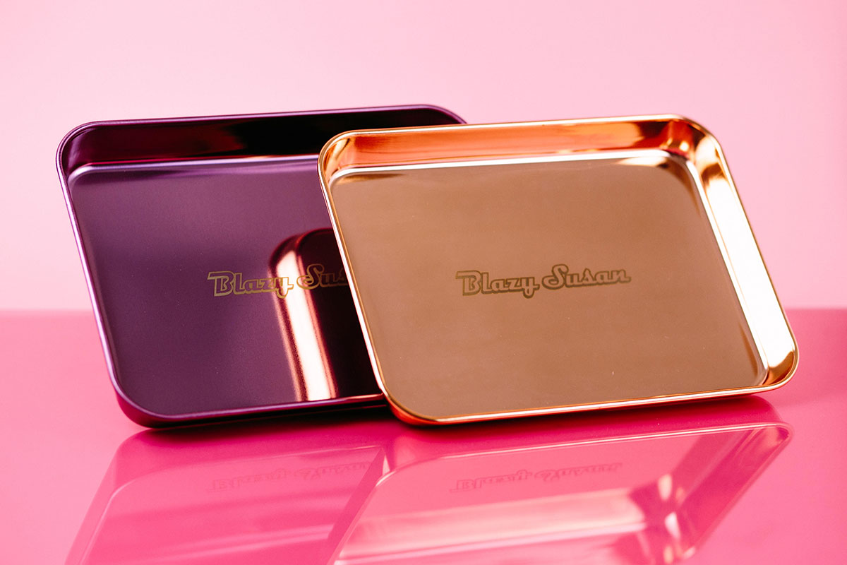 Blazy Susan Stainless Steel Rolling Trays